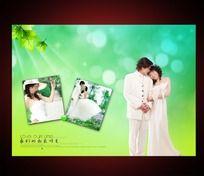 我们的幸福时光婚纱照片模板 PSD
