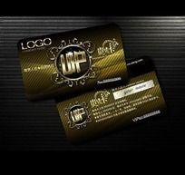 尊贵金属质感花纹VIP卡设计源文件