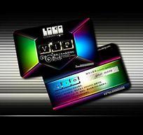 彩色创意VIP卡设计源文件