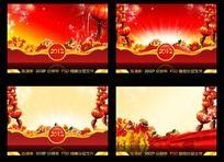 2012年龙年 春节元宵海报传单背景模板设计