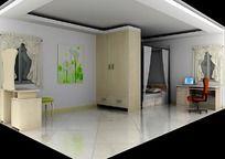 3D卧室模型和3D卧室效果图
