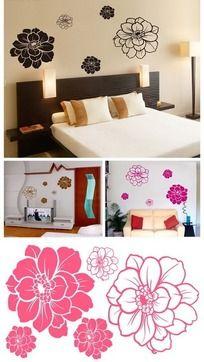 卧室墙贴 莲花朵朵
