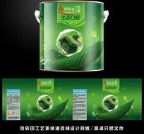 绿色环保 油漆桶包装设计