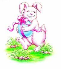 抱着鸡蛋的兔子