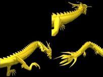 3D龙腾图 影视龙素材
