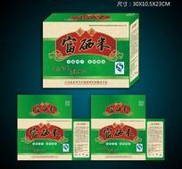 生态富硒米包装盒设计