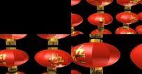 寿庆灯笼高清动态3D视频