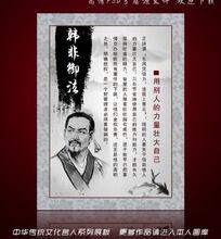 韩非御法 中华传统文化学校展板图片