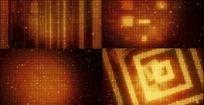 极品金色方框粒子LED时尚背景视频极品时尚背景