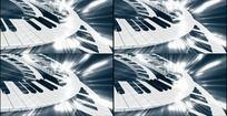钢琴旋转动态三维背景视频素材