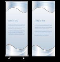 金属质感简洁展板