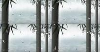 中国风水墨竹子动态高清视频素材
