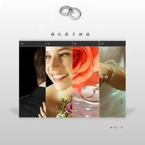婚庆网站电子相册flash全站源文件 FLA