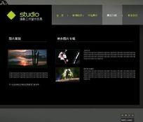 摄影工作室flash网站源文件 FLA