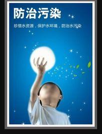 防止污染 公益环保展板海报