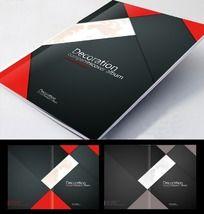 简洁大气 黑色画册封面设计 PSD