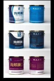 油漆桶包装和效果图矢量图