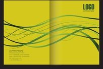 黄色线条画册封面