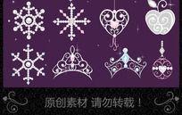 矢量高贵华丽浪漫甜美珠宝钻石素材