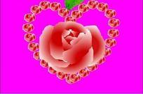 花朵组成爱心flash源文件 FLA