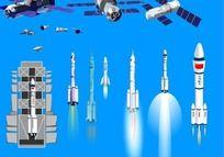 火箭飞船flash源文件 FLA