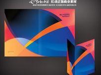 时尚科技画册封面设计矢量图