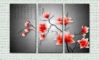 花朵无框画