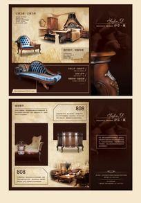 古典欧式家具折页