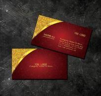 7款 古典红色背景名片模板psd设计下载