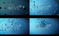 AE立体文字爆炸动态视频源文件