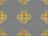 金色边框动态视频素材