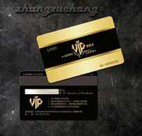 金色休闲会所VIP会员卡素材