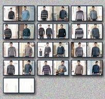 羊绒衫精品画册设计男款设计