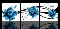 蓝玫瑰无框画