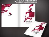 最新抽象红色画册封面
