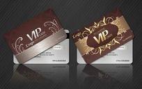 欧式花纹金卡银卡VIP卡