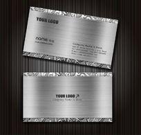 银色金属名片设计