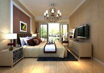 主卧室max模型设计