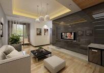 现代客厅设计max模型