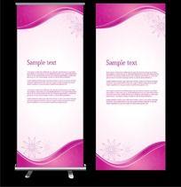 紫色花朵展板背景