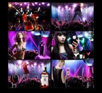 冰场 夜场 酒吧 KTV 娱乐广告海报设计