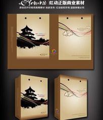 中国风旅游手提袋设计