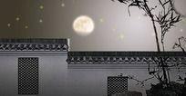 院墙月亮视频(附AE)