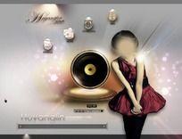 明星歌手个人网站摸板(无代码) PSD