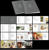 简洁高档装饰企业画册设计CDR矢量图