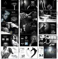 高贵钻石珠宝宣传画册素材