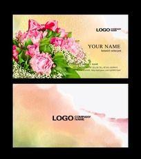 12款 鲜花花卉名片PSD下载