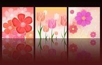 室内装饰花朵无框画设计