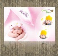 粉色照片模板 儿童模板 百天模板
