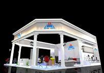 办公家具企业3D展厅展览设计 max